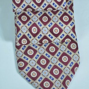$250 Stefano Ricci Burgundy & Tan 100% Silk Tie